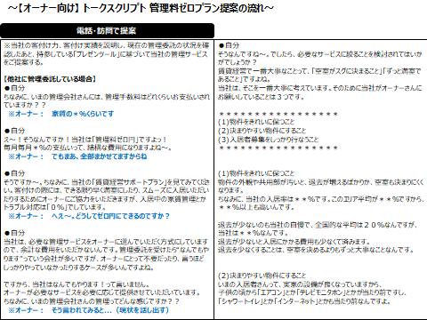 オーナー向け営業トークスクリプト②